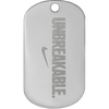 Unbreakable nickel plated nike diamond engraved custom dog tag.