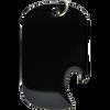 black side slot blank dog tag bottle opener.