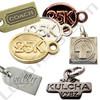 custom jewelry tags multiple shapes sizes and platings