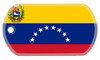 Venezuelan flag dog tag on genuine stainless steel dog tag.