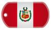 Peruvian flag dog tag
