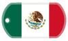 Mexican flag dog tag
