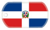 Dominican flag dog tag