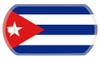Cuban flag dog tag