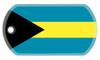 The flag of the Bahamas dog tag