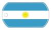Argentinian flag dog tag