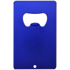 Blue aluminum credit card bottle opener