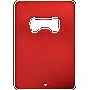 red aluminum credit card bottle opener