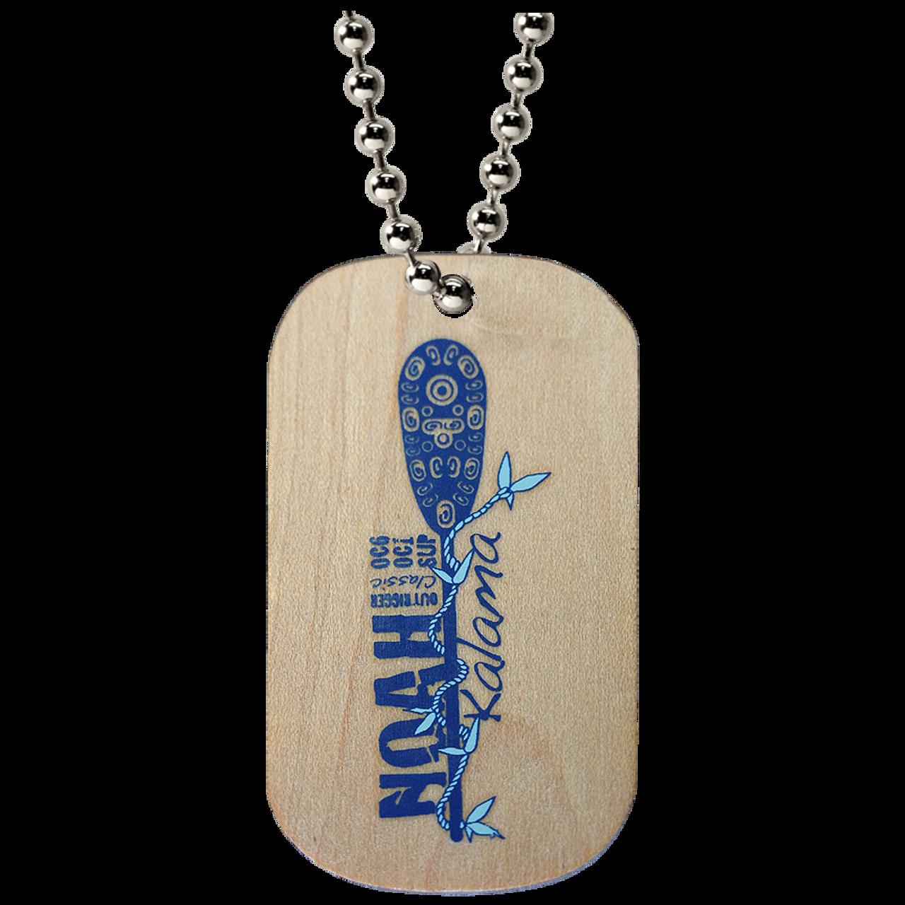 wooden dog tags custom made logotags