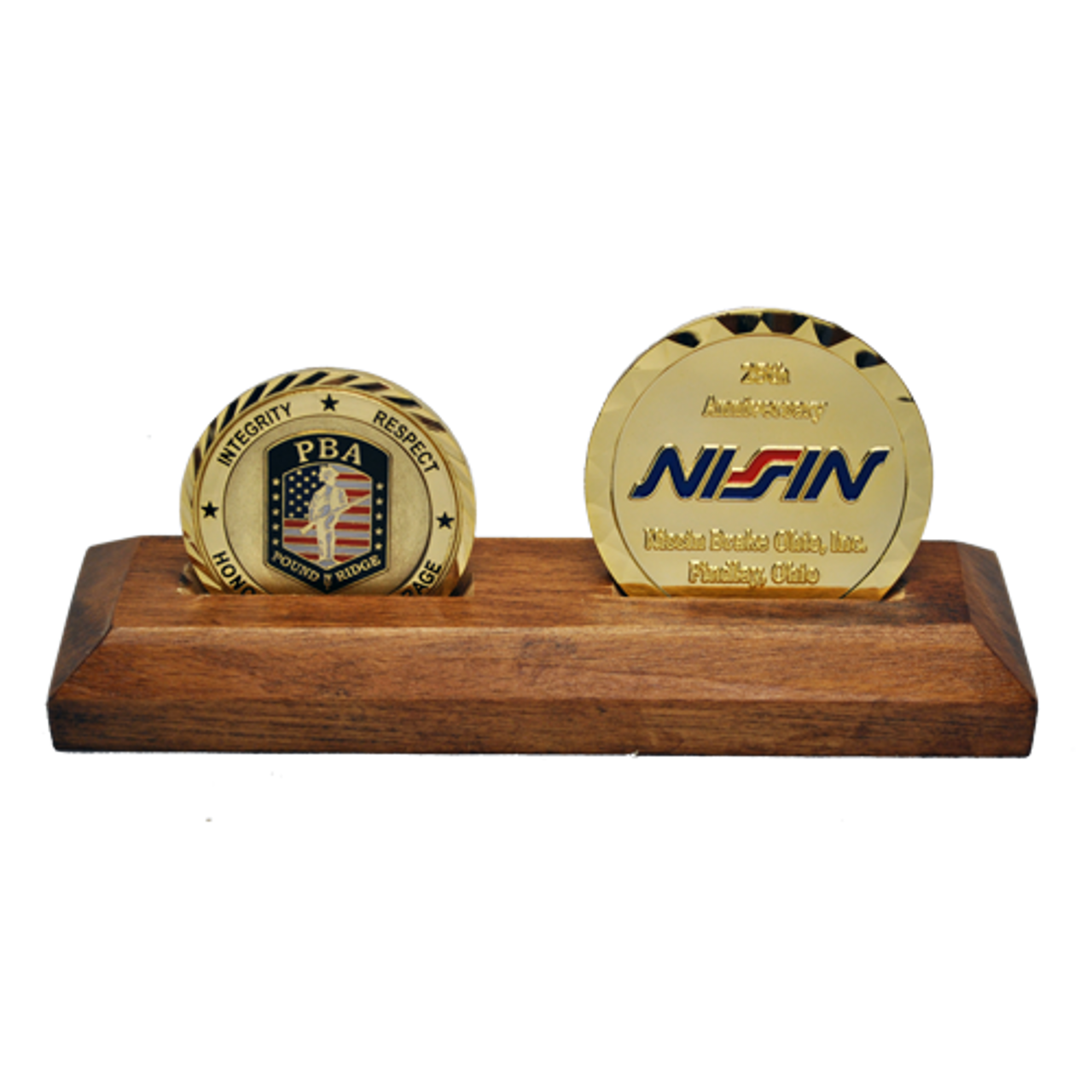 Wooden Display Stand 2 Coins