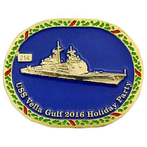 Custom challenge coin USS vela