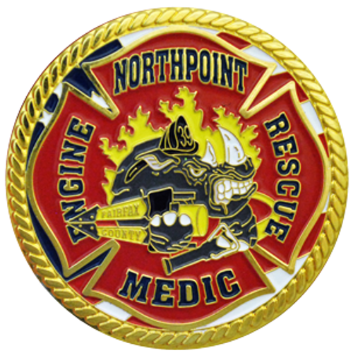 Fire rescue custom fire department coin.