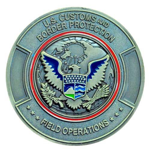Border patrol custom challenge coin