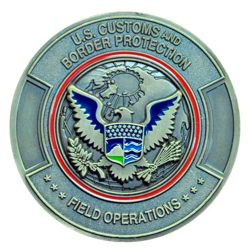 Border patrol custom challenge coin