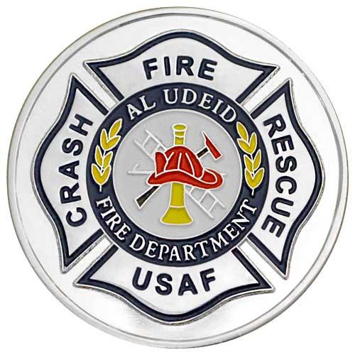 Fire Crash Rescue Custom Challenge Coin