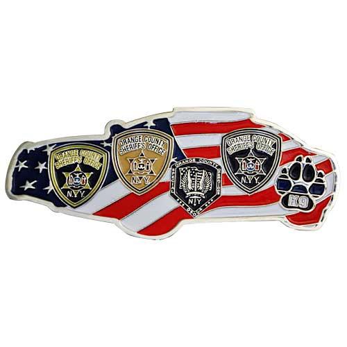 Orange country sheriff police car custom brass challenge coin.