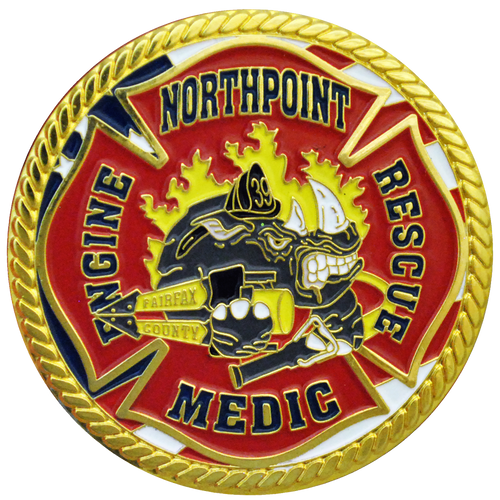 Fire engine medic northpoint challenge coin