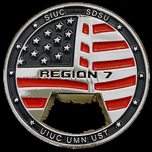 Custom challenge coin bottle opener