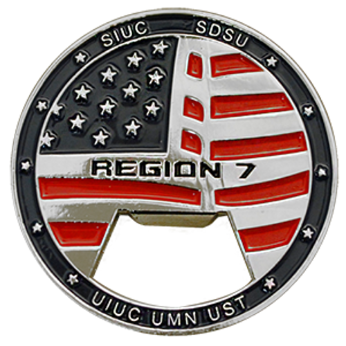 Custom challenge coin bottle opener