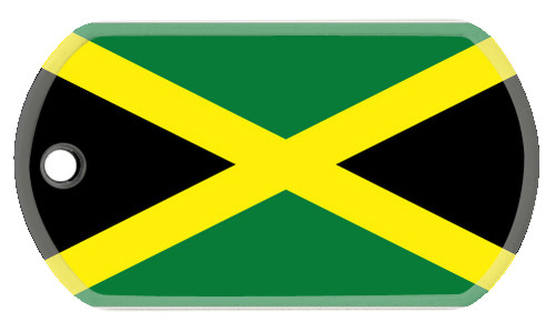 Jamaican flag dog tag