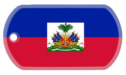 Haitian Flag dog tag