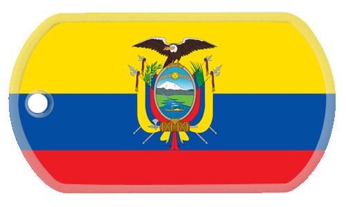 Ecuadorian flag dog tag