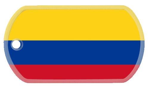 columbian flag dog tag