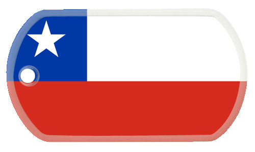 Chilean flag dog tag.