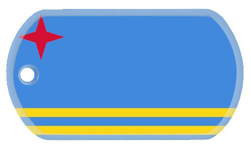 Flag of Aruba dog tags.