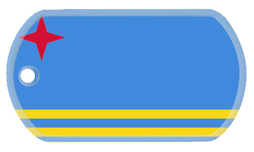Flag of Aruba dog tags.