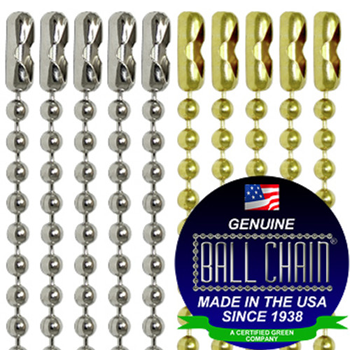 30 inch nickel plated steel ball chain necklace.