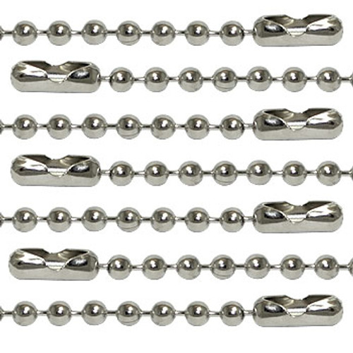"""36"""" Ball Chain Necklace - Nickel Plated Steel"""