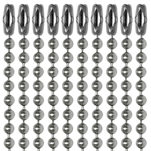 """30"""" Dog Tag Chains - Stainless Steel"""