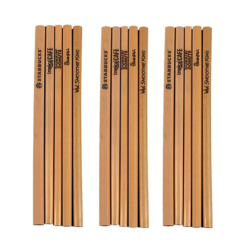 Custom promotional bamboo drinking straws with corporate logos laser engraved onto the surface of the straw.