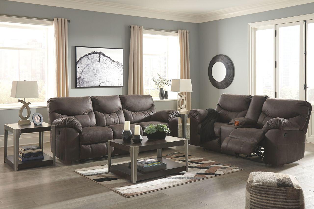 Stupendous Ashley Boxberg Teak Reclining Sofa Double Reclining Loveseat With Console Uwap Interior Chair Design Uwaporg