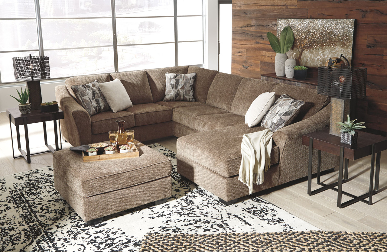 Ashley Graftin Teak Laf Sofa Couch With Corner Wedge Armless Loveseat Raf Corner Chaise Sectional Ottoman On Sale At Furniture And Mattress Warehouse Serving Holland Mi