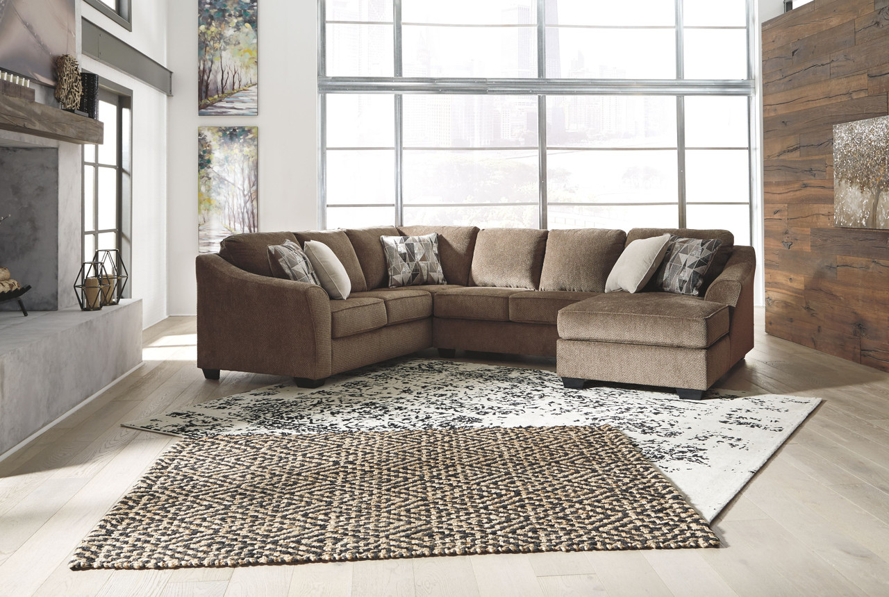Ashley Graftin Teak Laf Sofa Couch With Corner Wedge Armless Loveseat Raf Corner Chaise Sectional On Sale At Furniture And Mattress Warehouse Serving Holland Mi