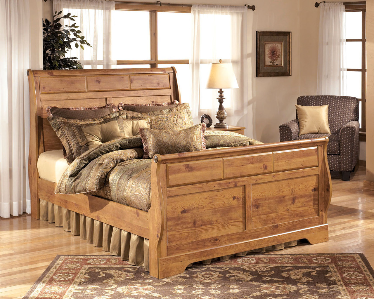 Picture of: Ashley Bittersweet Light Brown Queen Sleigh Bed On Sale At Furniture And Mattress Warehouse Serving Holland Mi