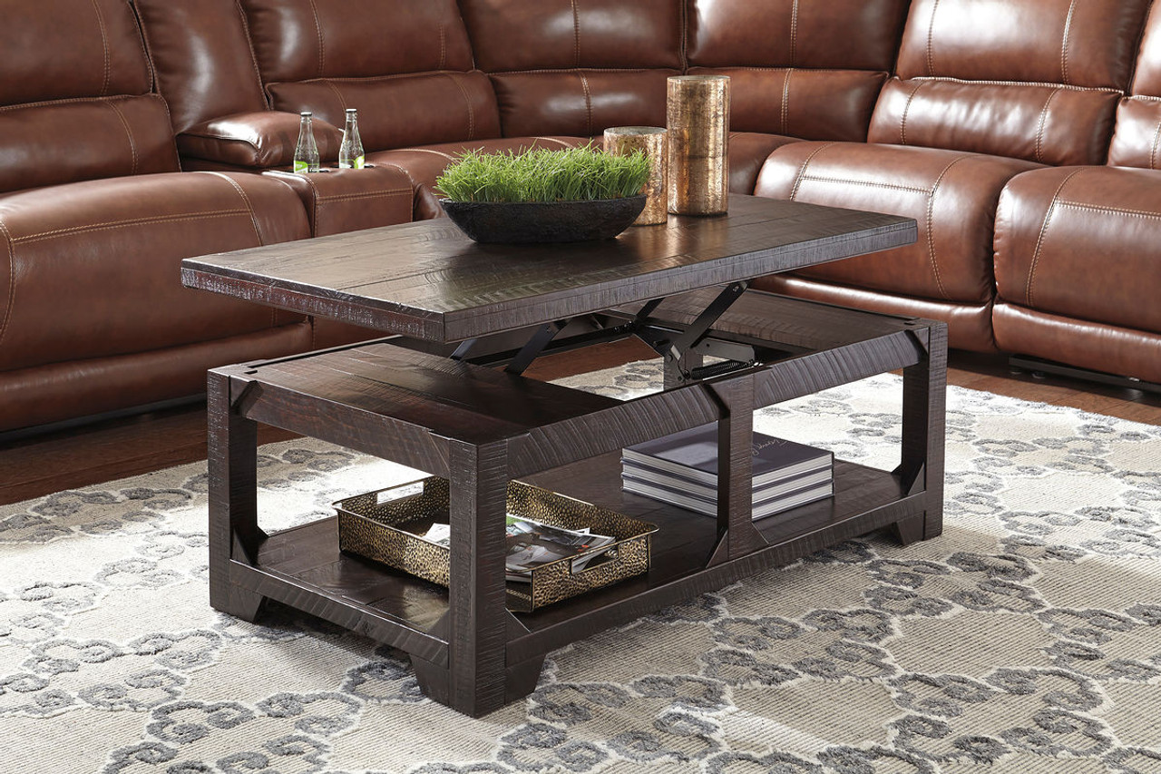 Ashley Rogness Rustic Brown Lift Top Cocktail Table On Sale At Furniture And Mattress Warehouse Serving Holland Mi