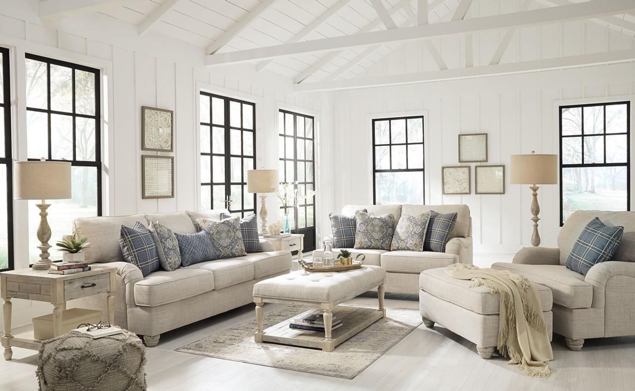 Astounding Ashley Traemore Linen Sofa Loveseat Chair And A Half Ottoman Uwap Interior Chair Design Uwaporg