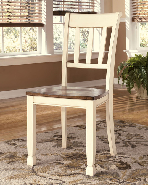 Brilliant Ashley Whitesburg Brown Cottage White Dining Room Side Chair Machost Co Dining Chair Design Ideas Machostcouk