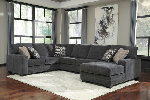 Sensational Ashley Dorsten Slate Sofa Wedge Loveseat Sectional On Unemploymentrelief Wooden Chair Designs For Living Room Unemploymentrelieforg