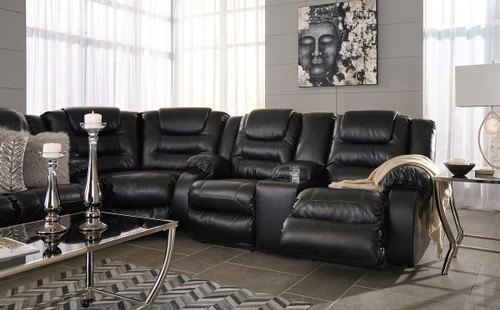 Admirable Ashley Vacherie Black Reclining Sofa Wedge Double Reclining Loveseat With Console Sectional Gmtry Best Dining Table And Chair Ideas Images Gmtryco