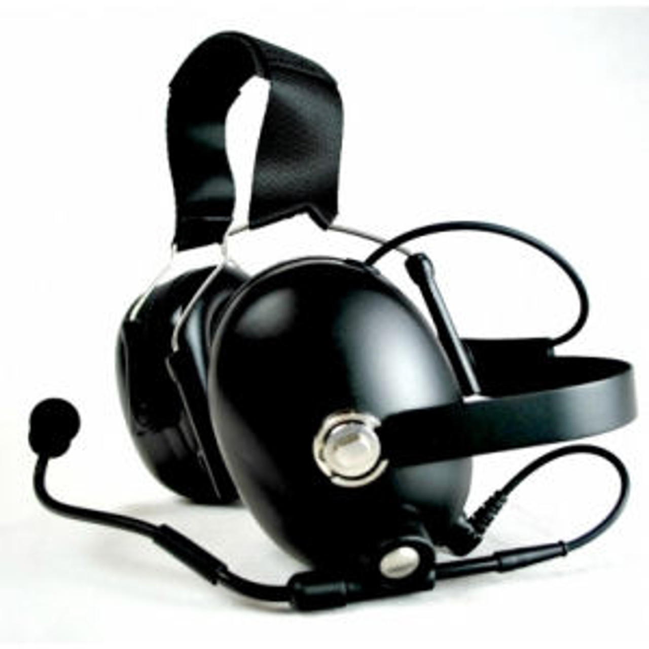 Bendix King LPX Noise Canceling Double Muff Behind The Head Headset