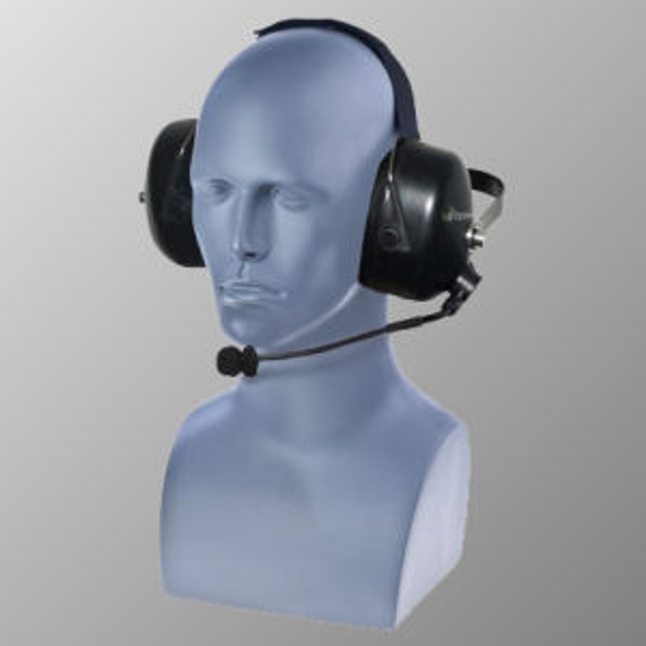 EF Johnson 5000 Noise Canceling Wireless PTT Double Muff Behind The Head Headset
