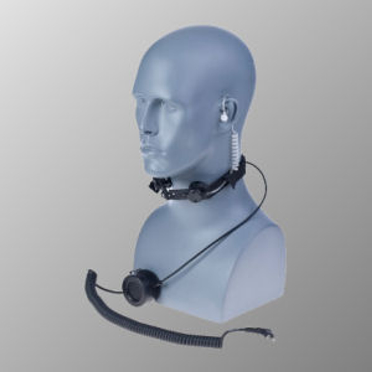 Relm RP4200A Throat Mic With Standard And Finger PTT