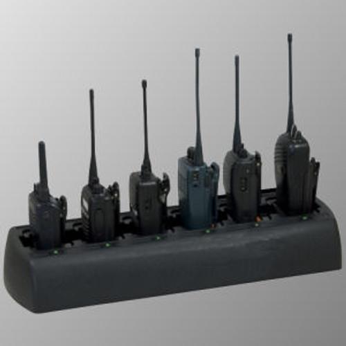 Motorola Jedi Series Slim Line 6-Slot Quad-Chem Drop-In Charger