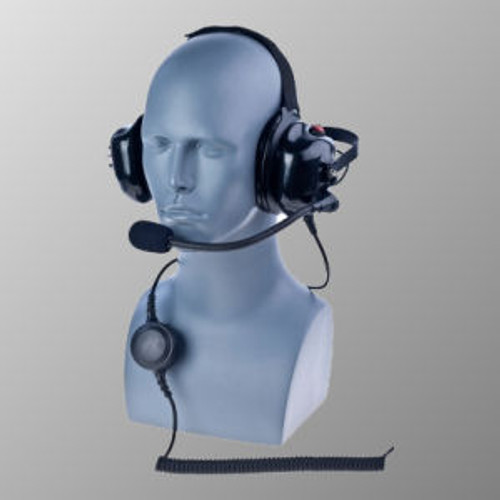 Motorola AN/PRC-153 Noise Canceling Behind The Head Double Muff Headset