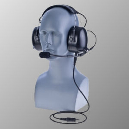 EF Johnson VP5230 Over The Head Double Muff Headset With WIreless PTT