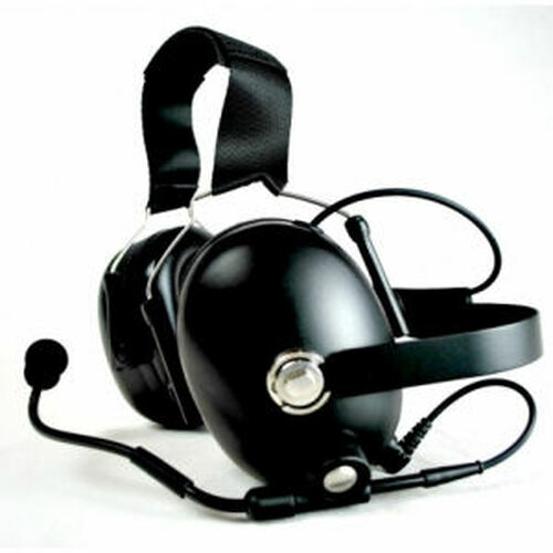 Harris P5550 Noise Canceling Double Muff Behind The Head Headset
